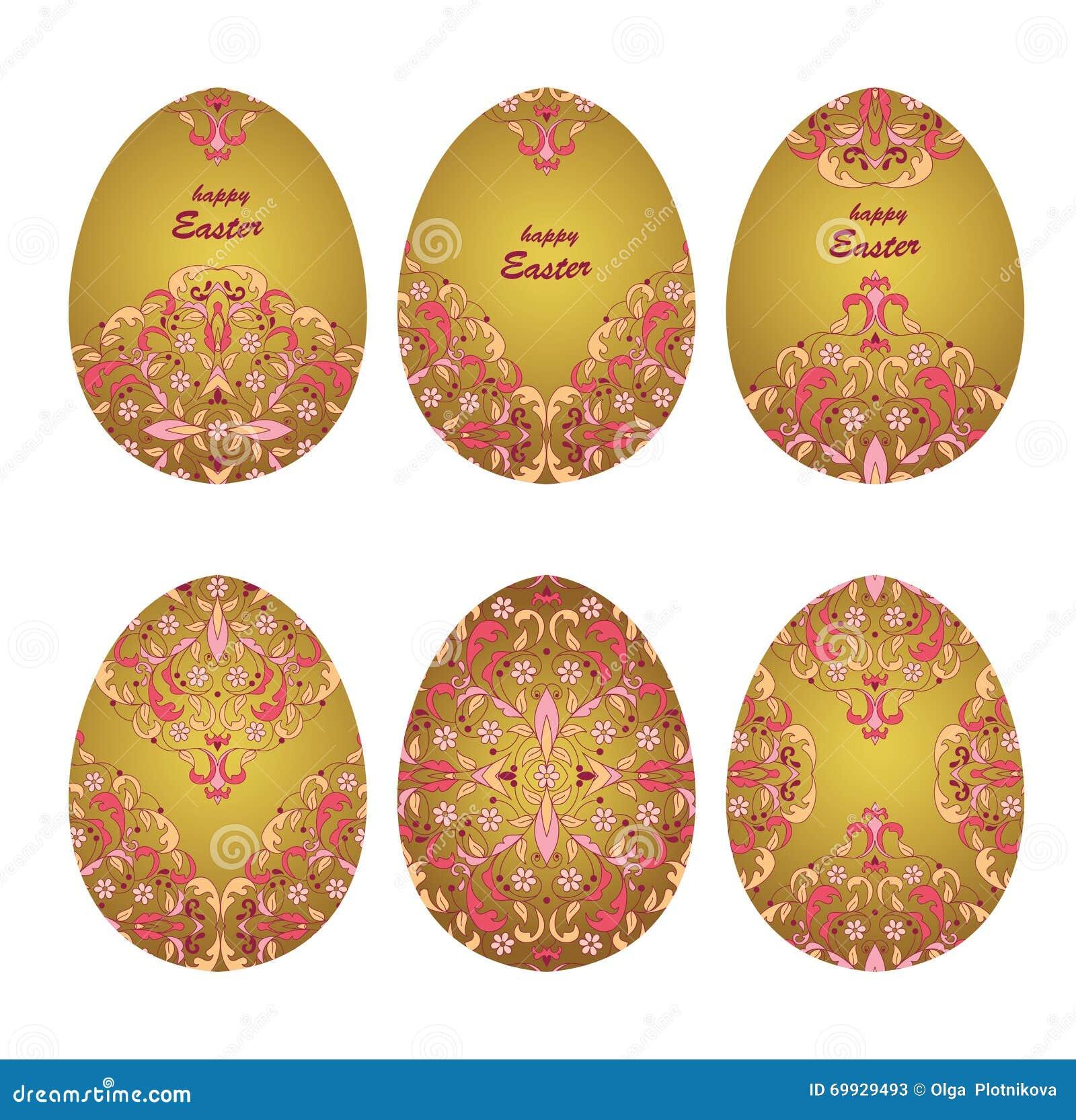 Floral ornamental eggs stock vector illustration of nature 69929493 set easter egg pattern ornament floral ornamental eggs for your easter design pattern for line art template maxwellsz