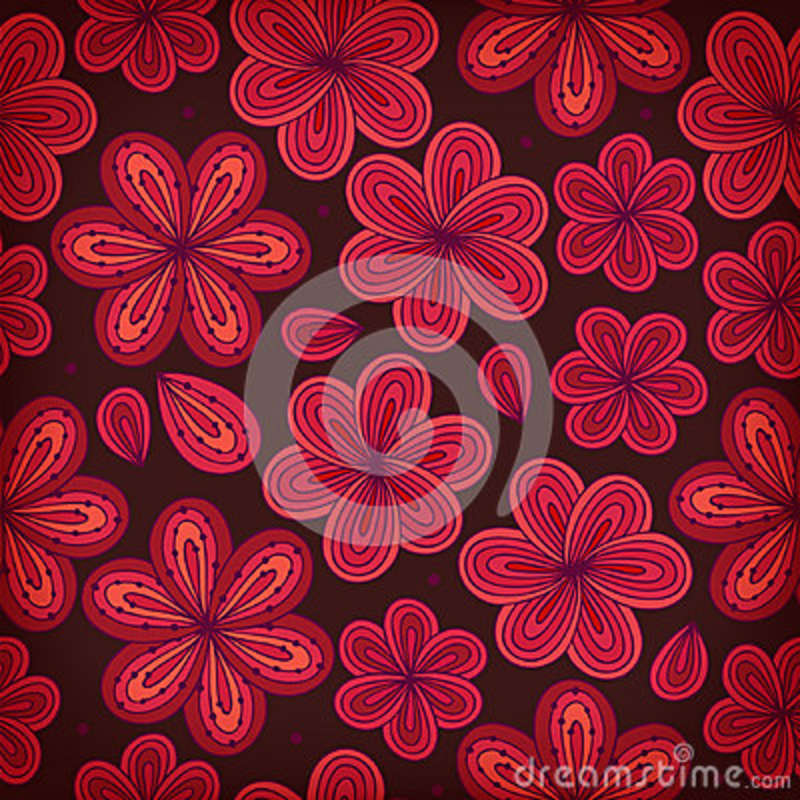 Floral ornamental seamless pattern. Decorative flowers background. Endless ornate texture for prints, crafts, textile
