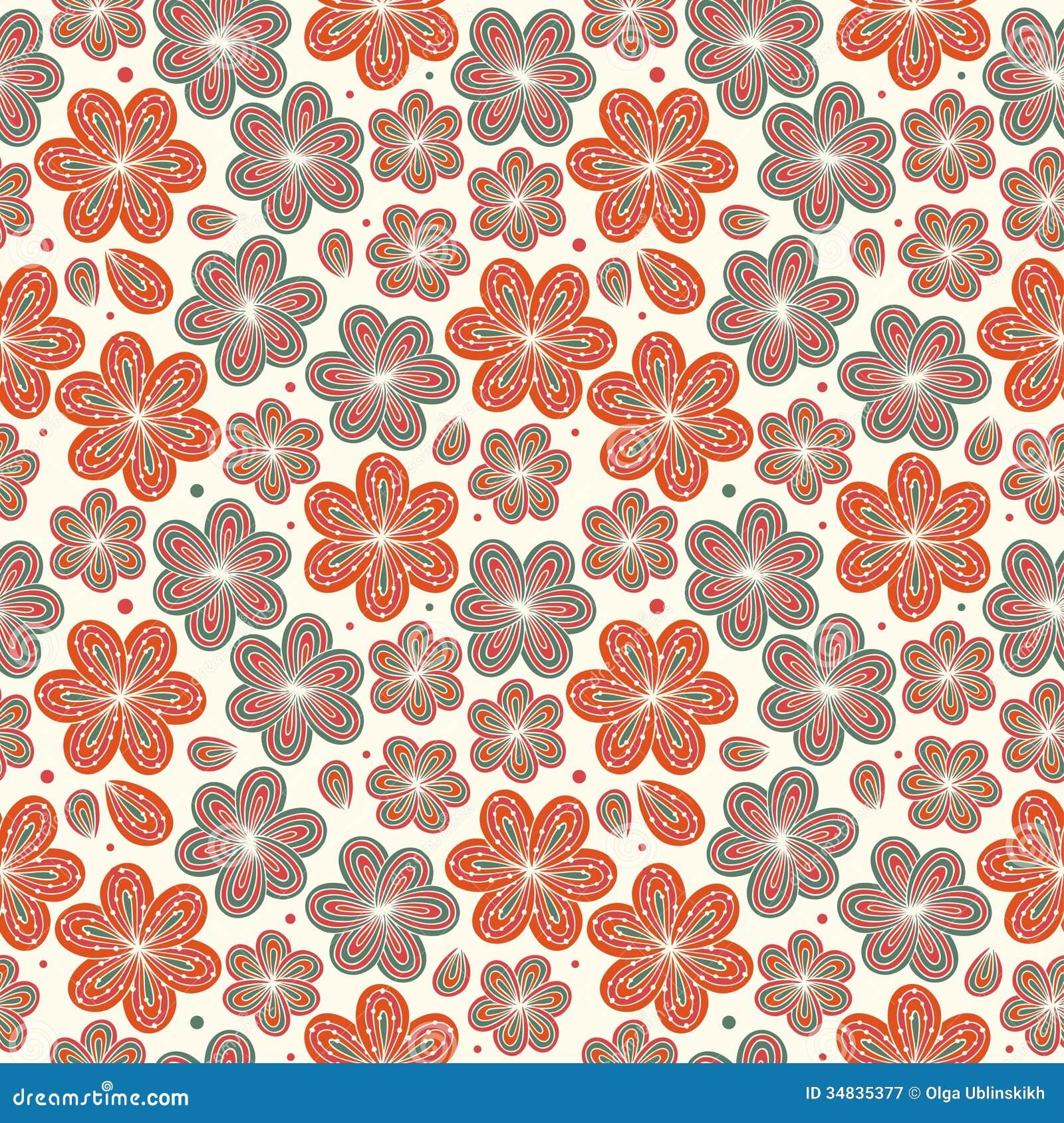 Floral Ornamental Seamless Pattern Decorative Nice Flowers