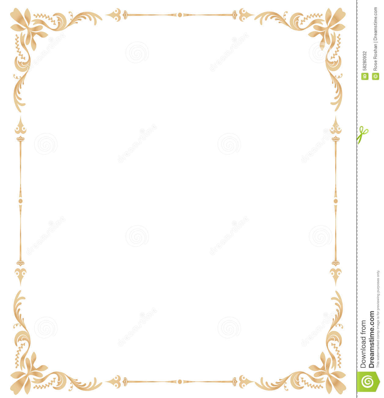 stock photography floral page border and ornateswirl