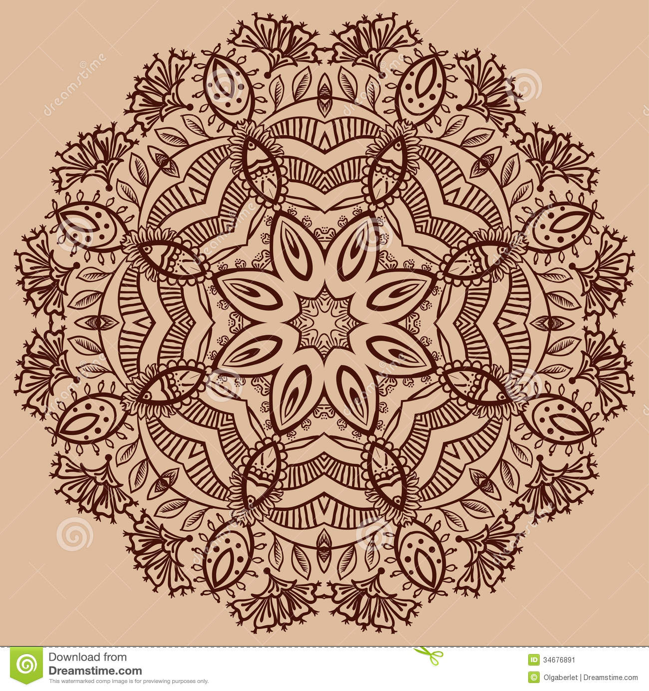 Floral paisley design stock image image 34676891