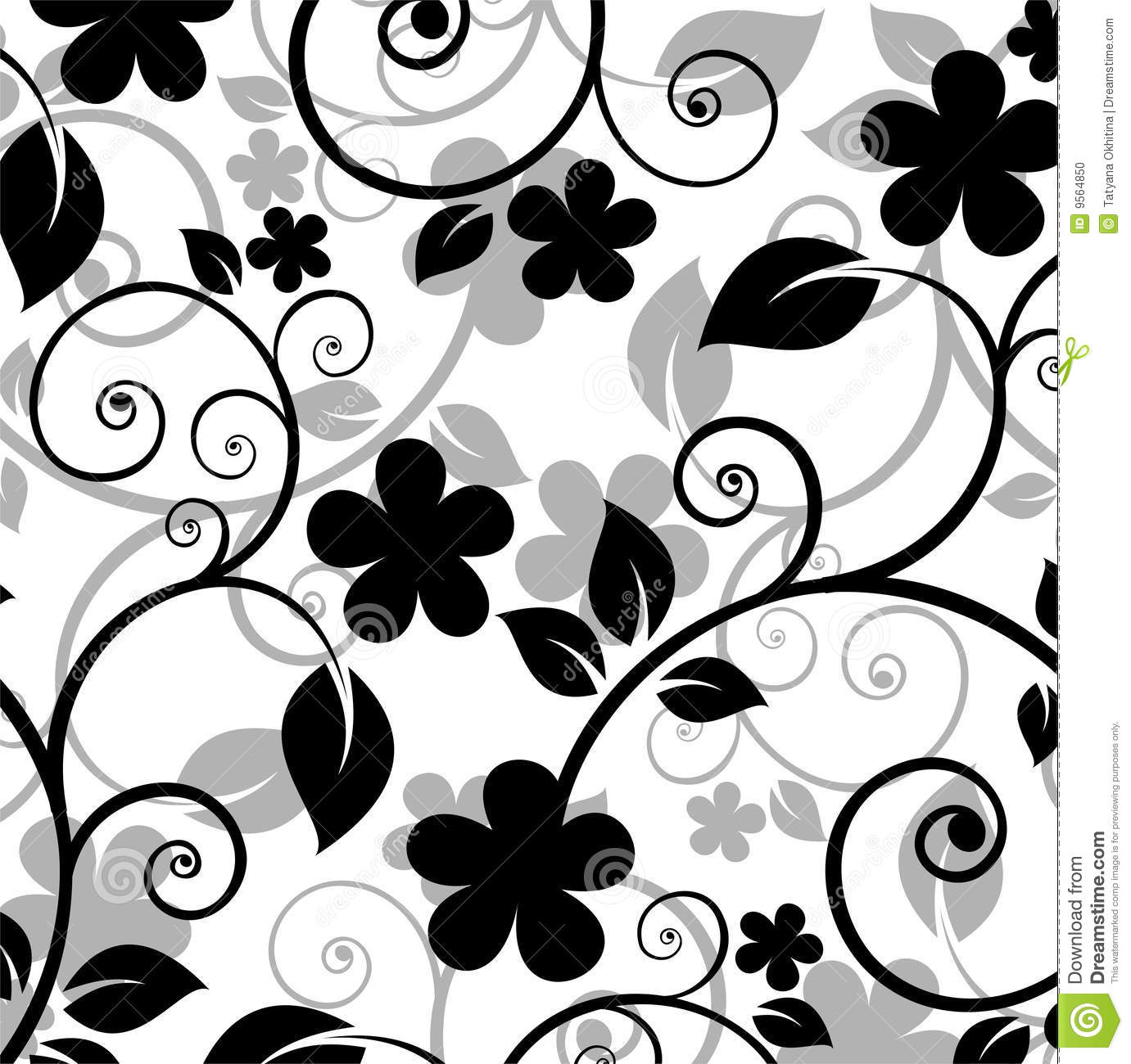 floral pattern stock photo   image 9564850