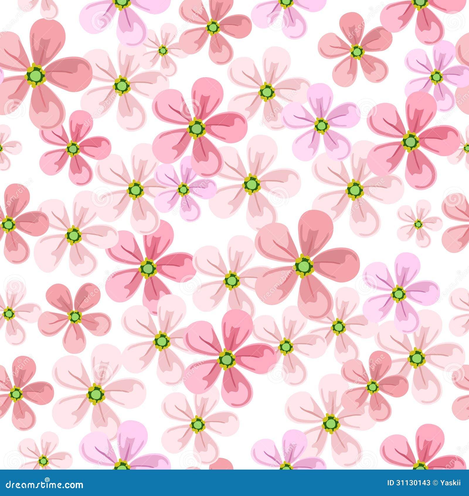 Floral Pattern Stock Vector. Illustration Of Flower