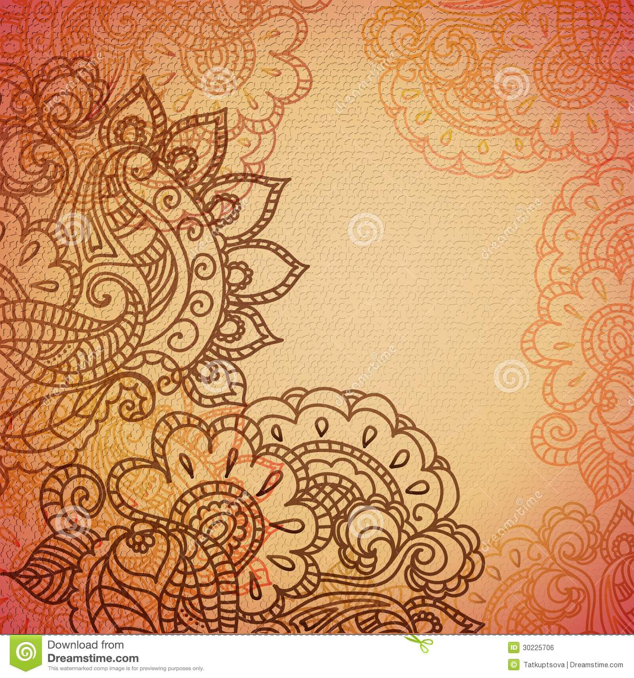 Vintage Paisley Ornament Background Stock Vector - Image ...