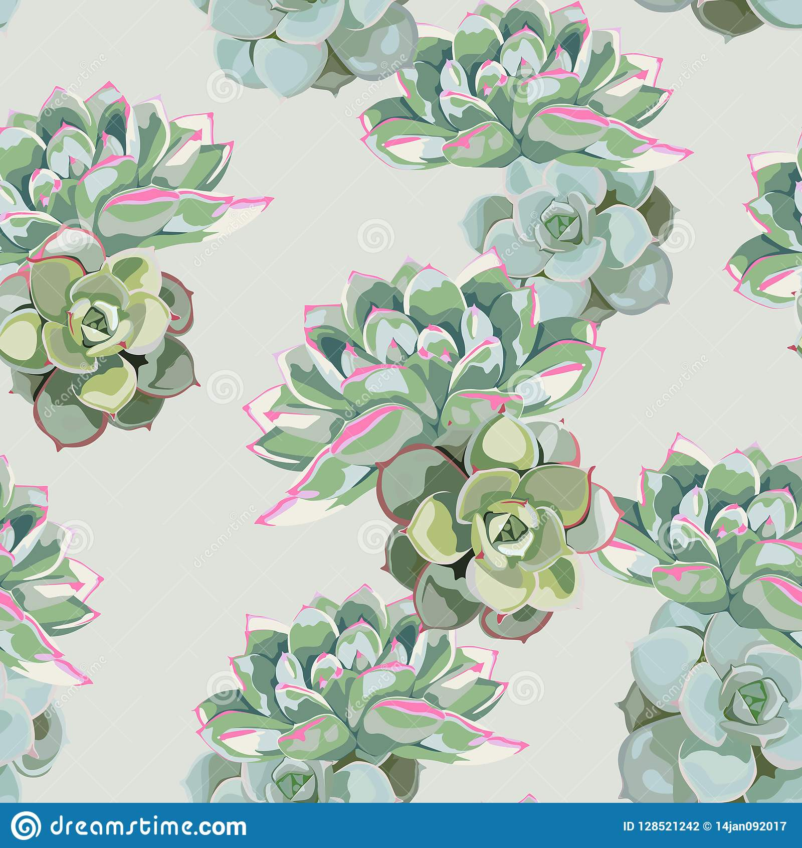 Floral Pattern Delicate Flower Wallpaper Green Pink Succulent