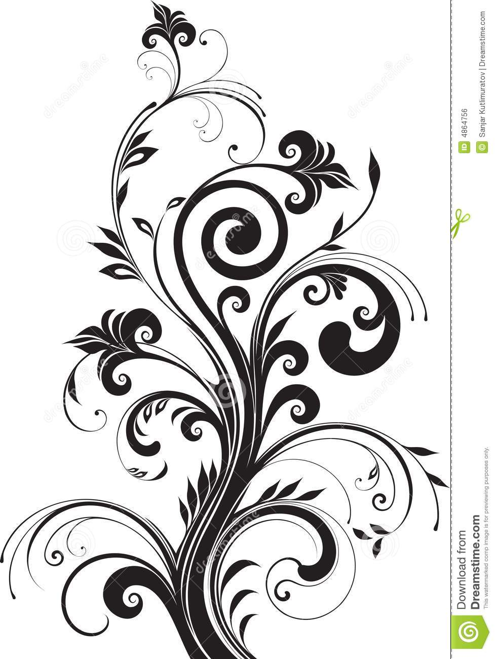 Floral Pattern For Design Stock Vector Illustration Of Decoration