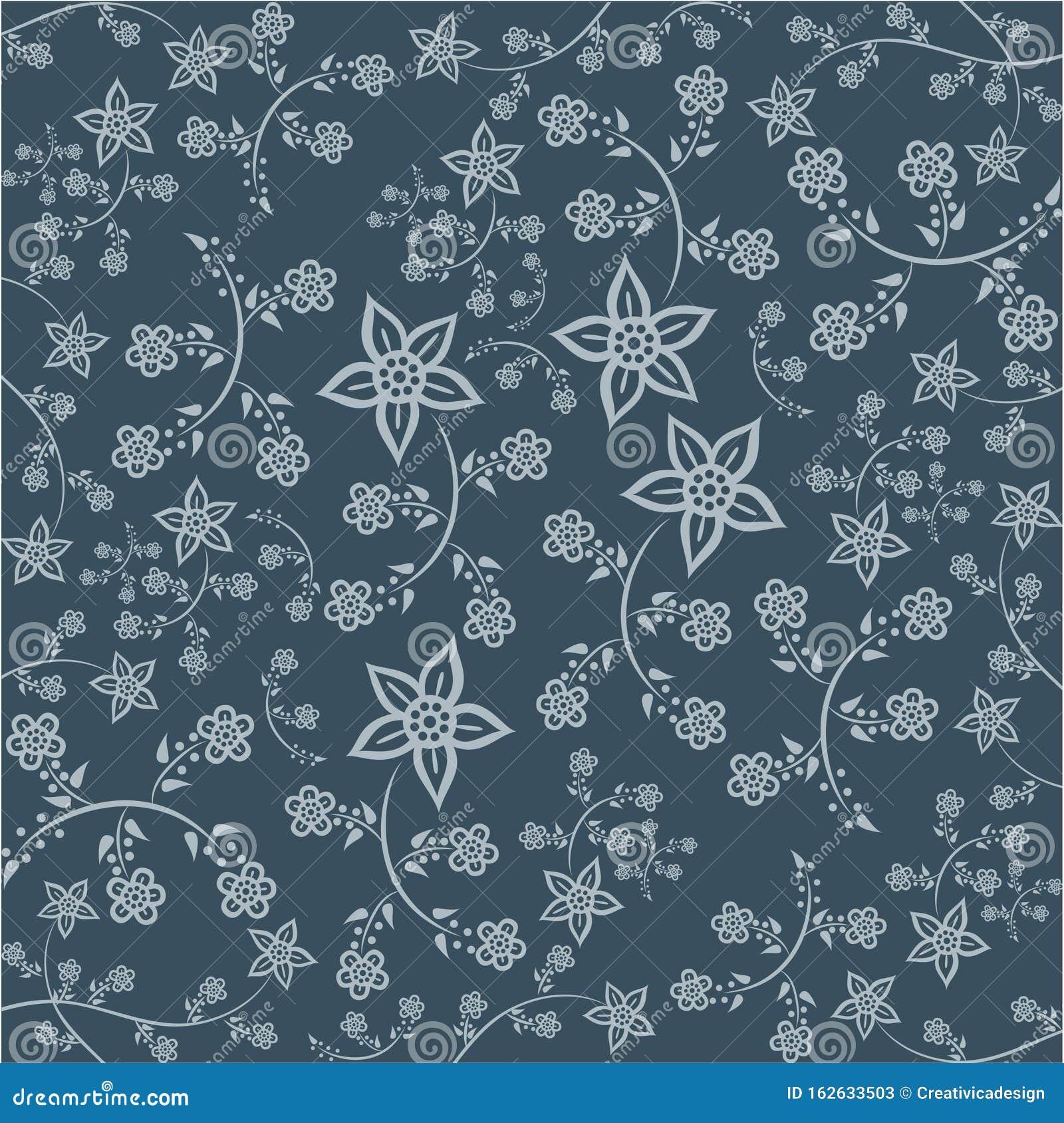 Floral Pattern. Javanese Batik Style Version 2 Bright