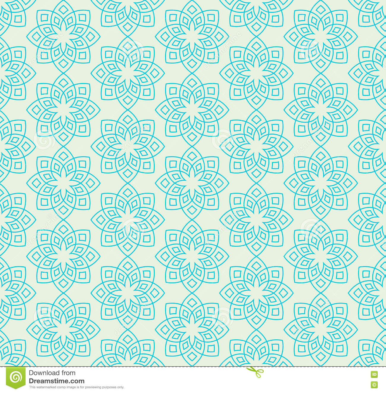 floral pattern in mint green colors