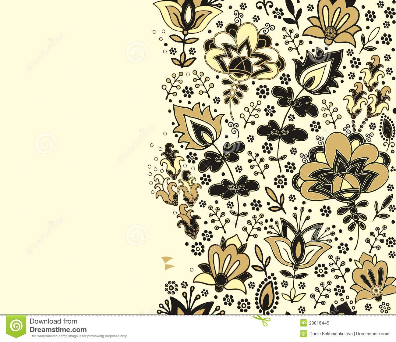 Seamless Floral Border Pattern Rug Pattern Stock
