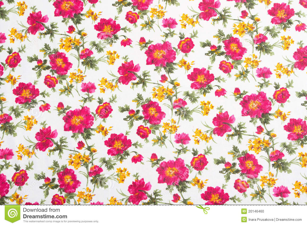 Floral pattern on seamless cloth flower bouquet vintage style