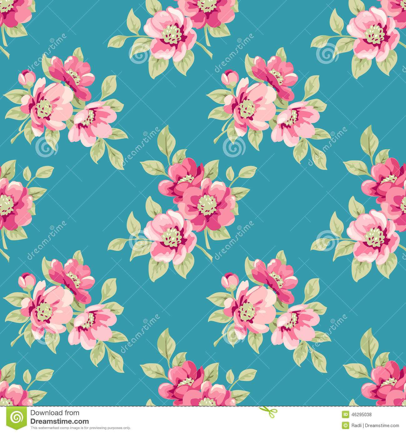 Floral pattern stock vector illustration of pattern 46295038 floral pattern mightylinksfo