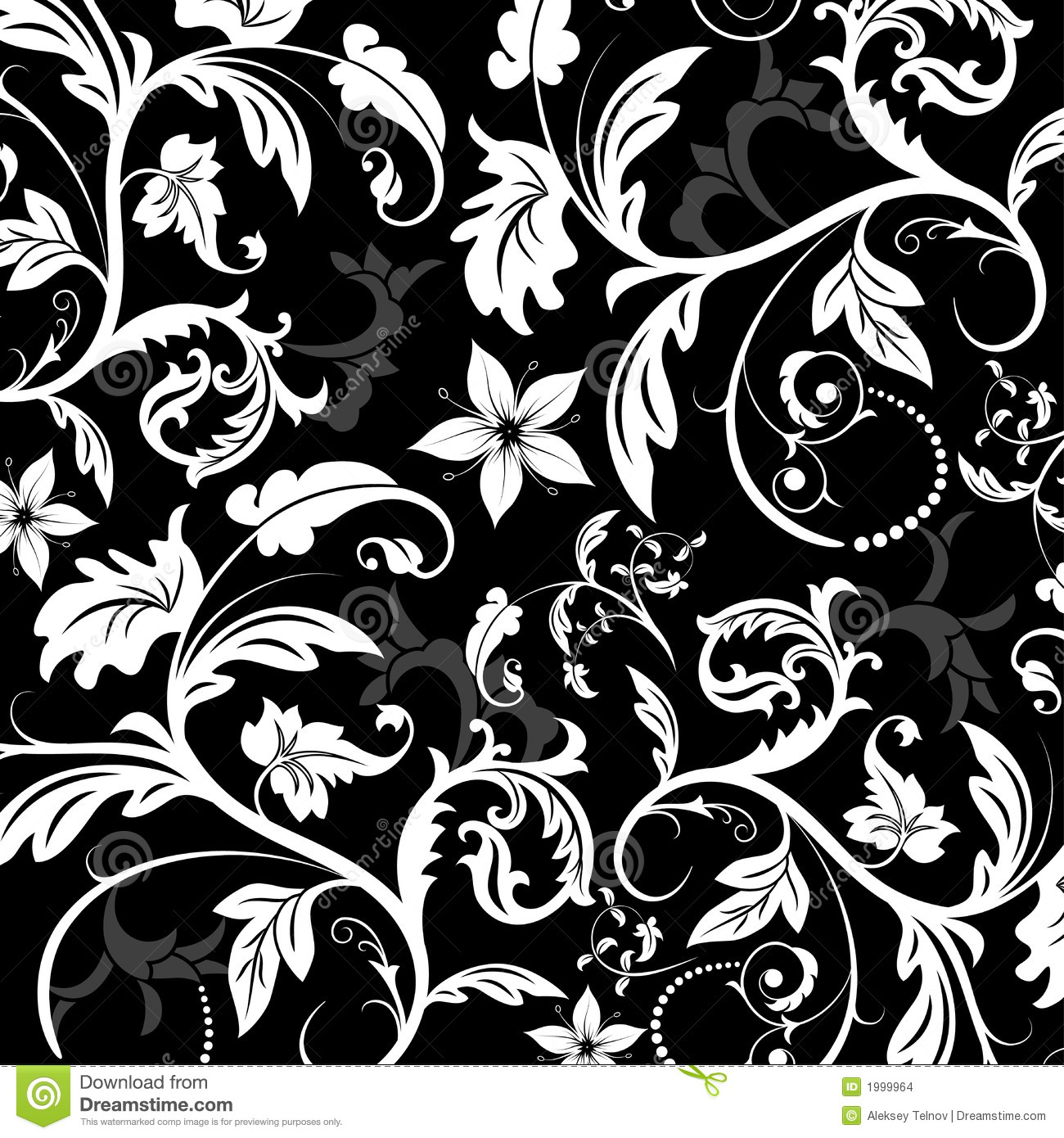 Floral Pattern, Vector Stock Images - Image: 1999964