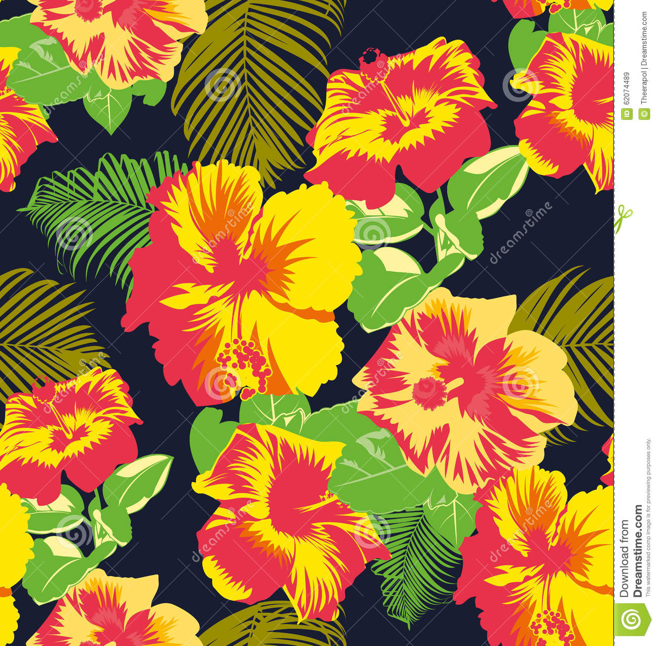 Floral Pattern Stock Illustration Illustration Of Graphic 62074489