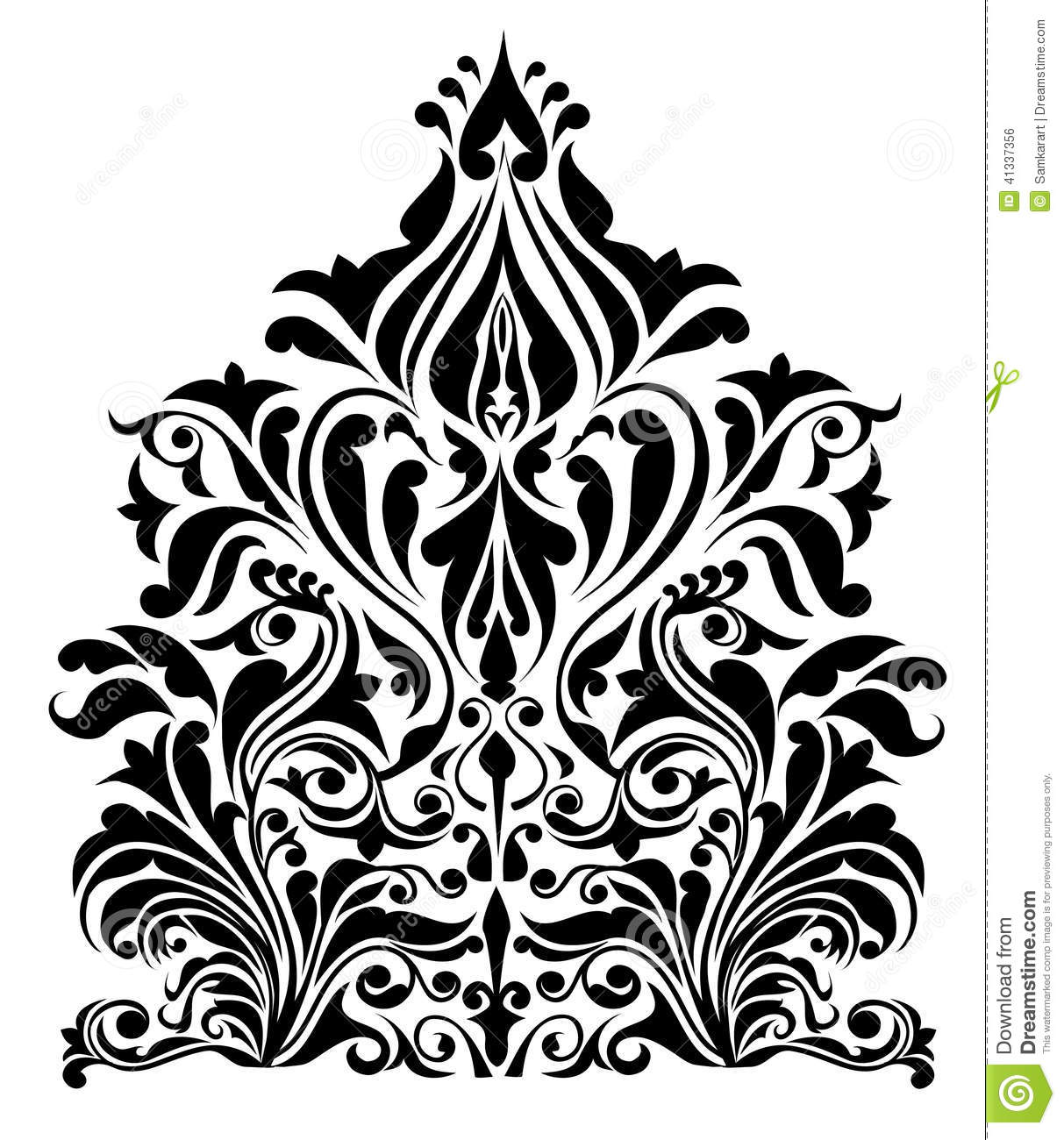floral pattern -vector stock vector
