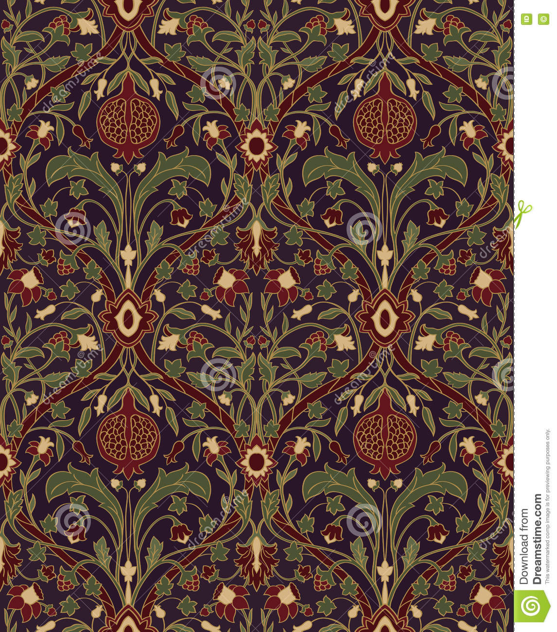 Floral Pattern For Wallpaper Stock Vector Illustration Of
