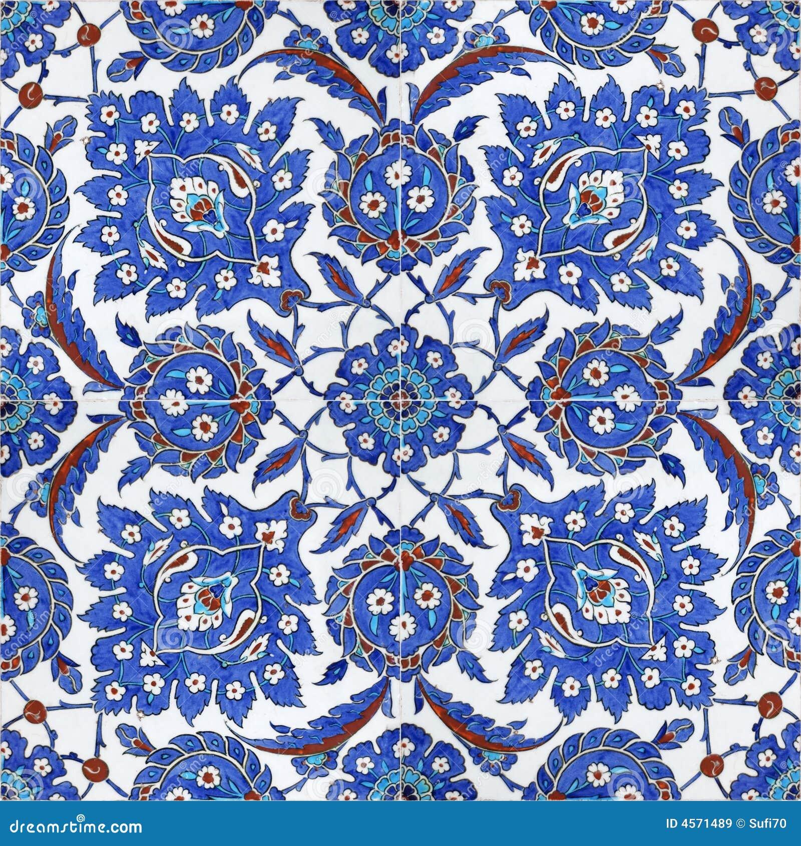 Floral Patterns On Ottoman Tiles Istanbul Turkey Royalty