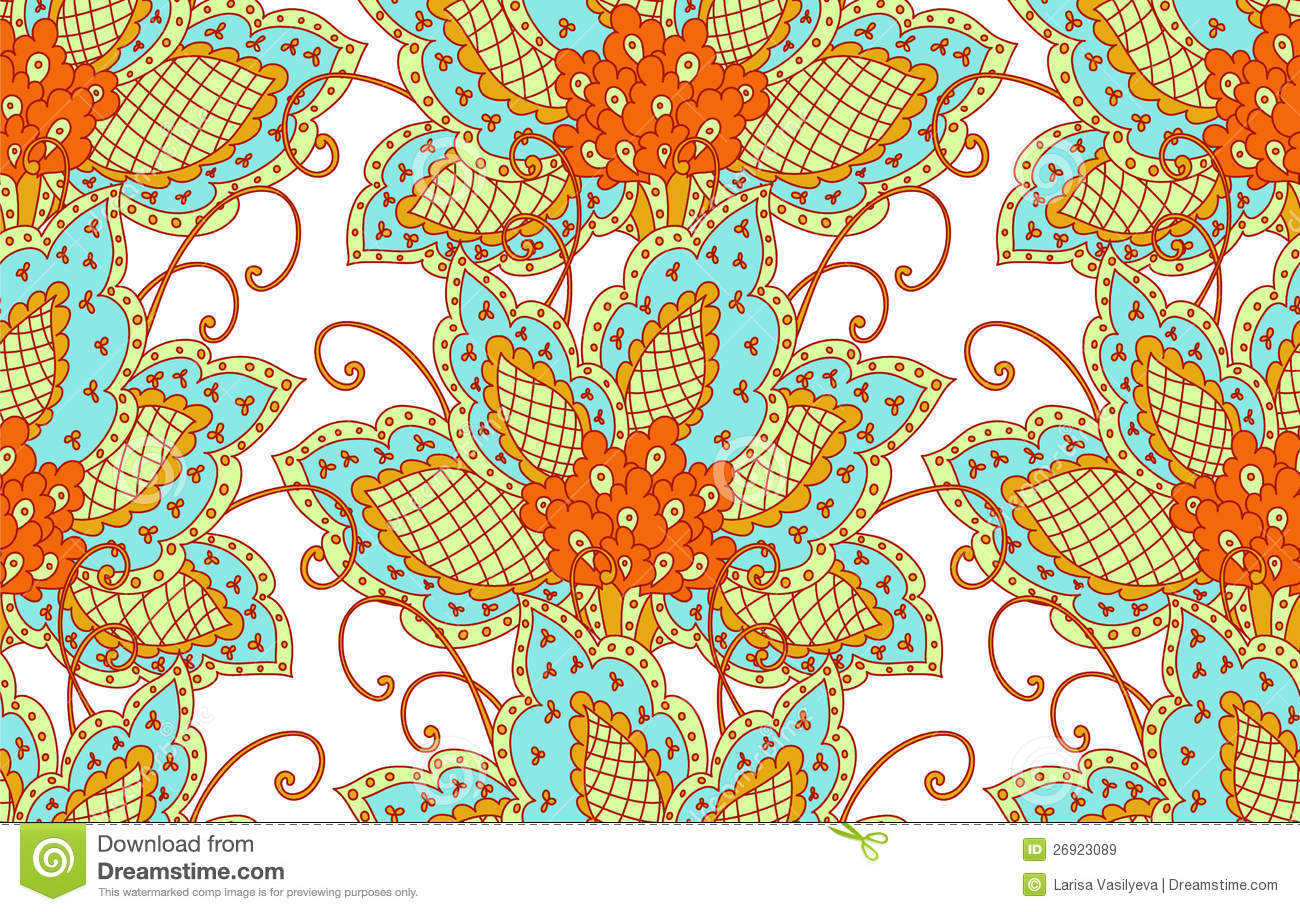Floral Persian Pattern Royalty Free Stock Images - Image