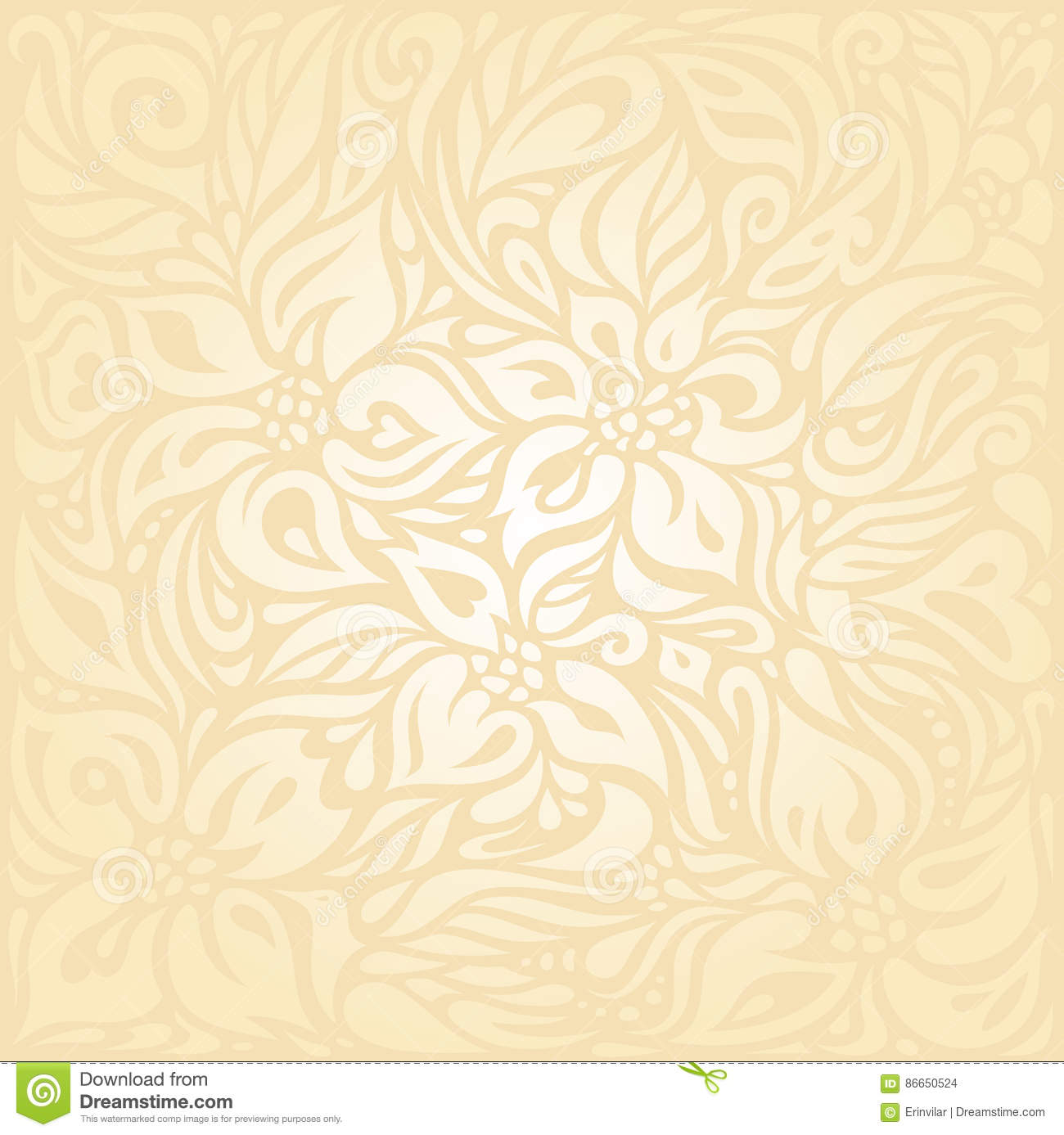 Floral Retro Wedding Peach Invitation Background Design