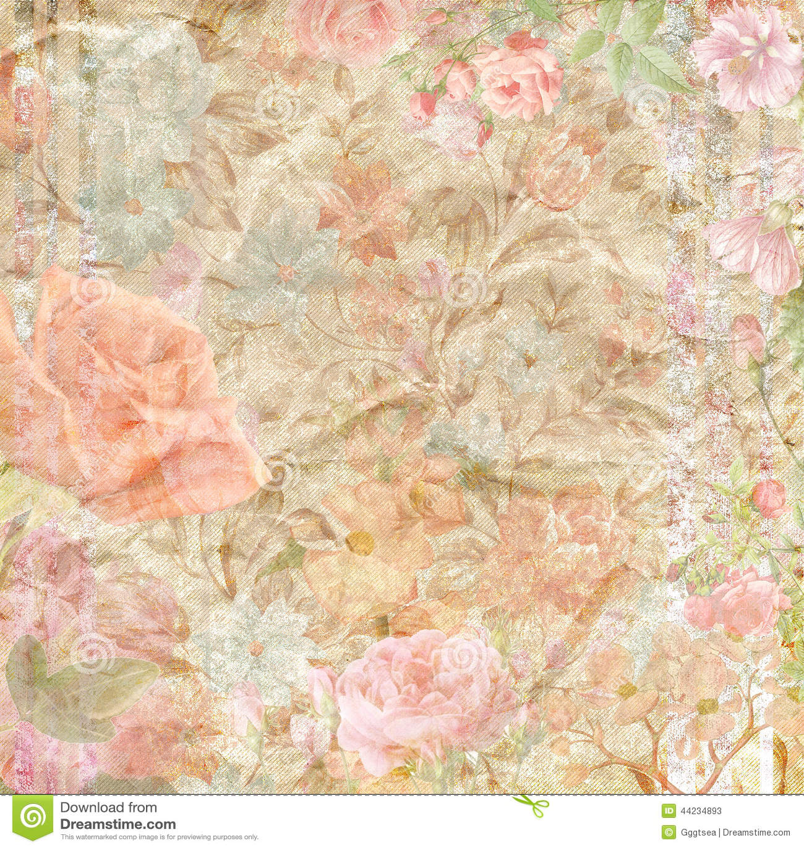 Scrapbook paper images - Floral Scrapbook Paper Background