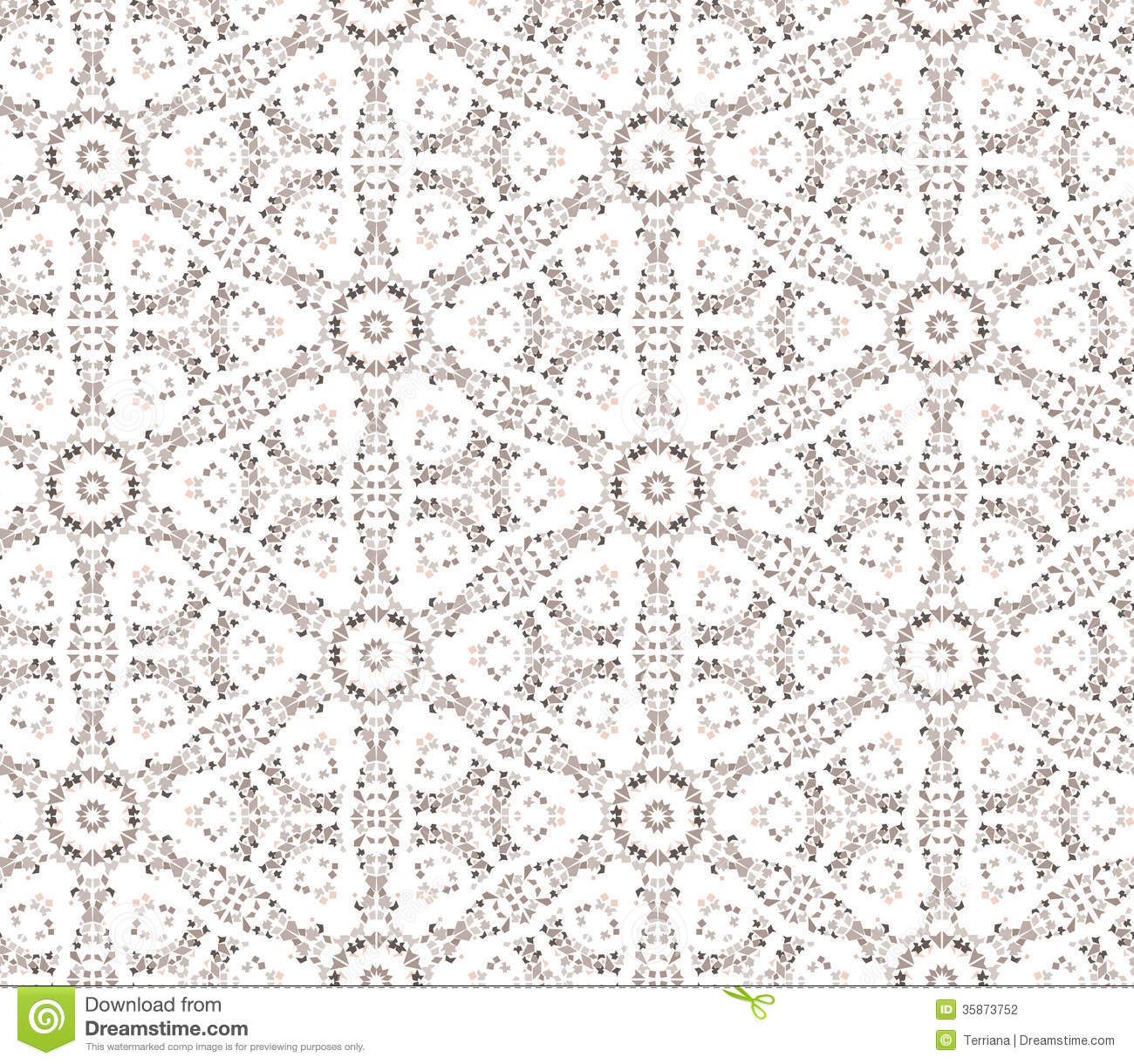 Floral Seamless Background Abstract Beige And White