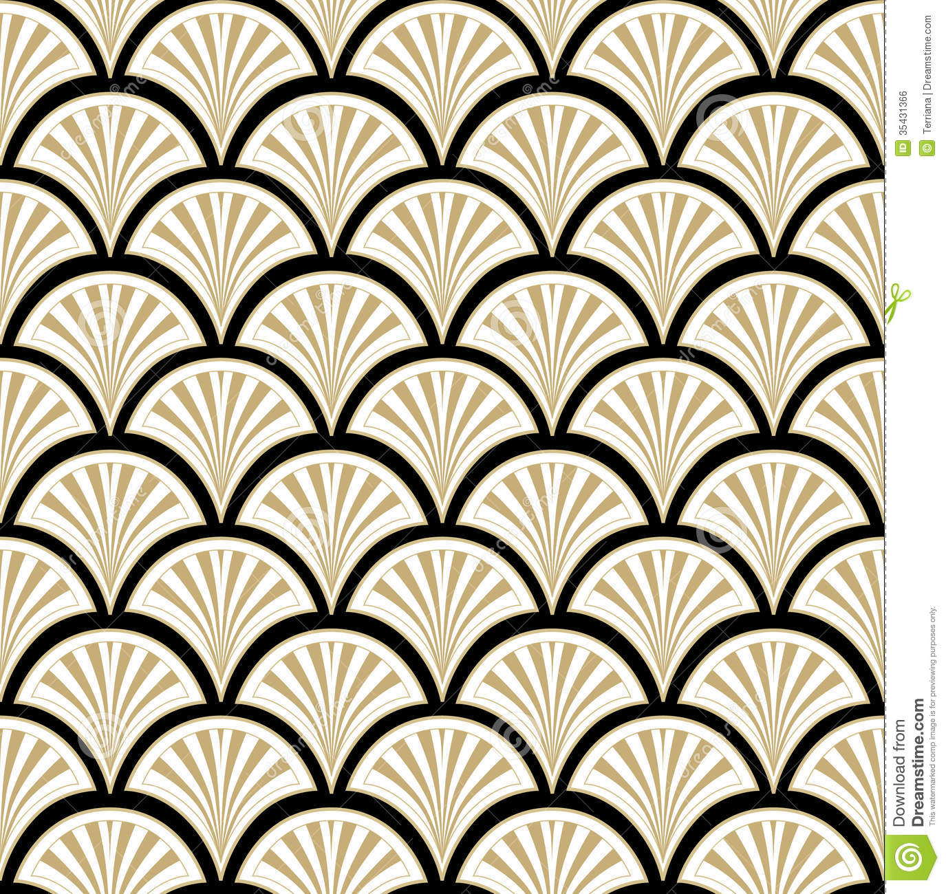 Floral Seamless Background Abstract Black Beige And