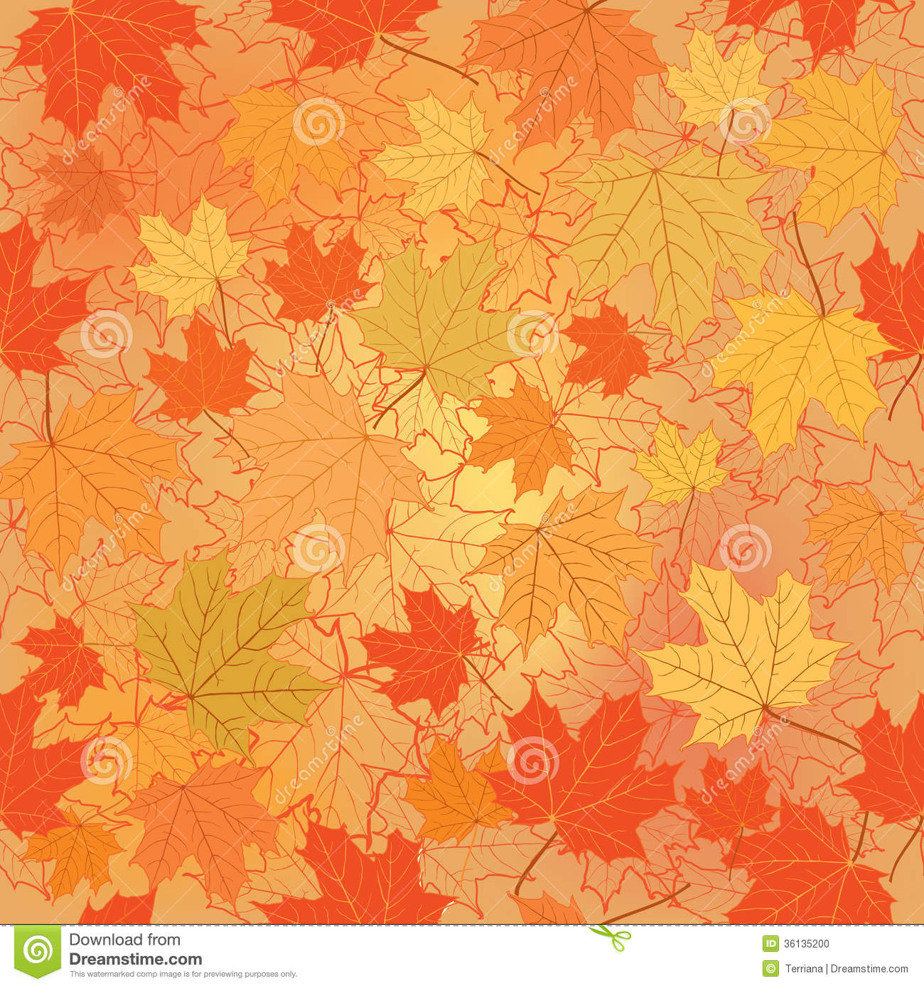 Floral Seamless Background. Fall Wallpaper. Stock Illustration ...