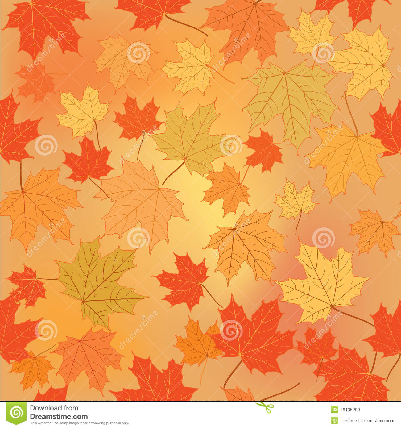 Floral Seamless Background Fall Wallpaper Royalty Free
