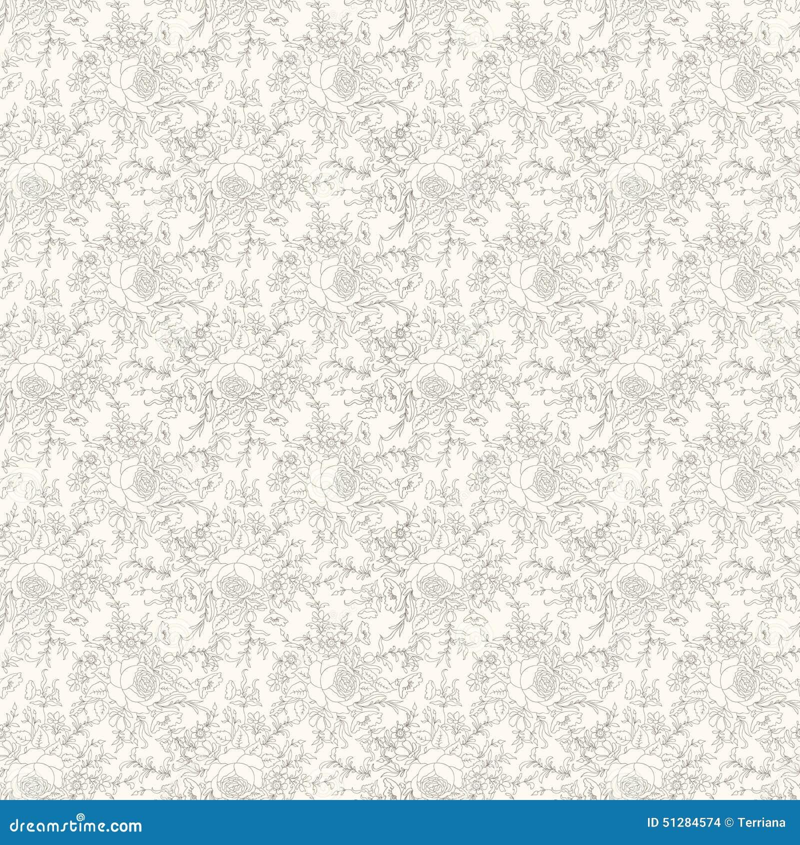 Floral Seamless Background Flower Pattern Flourish