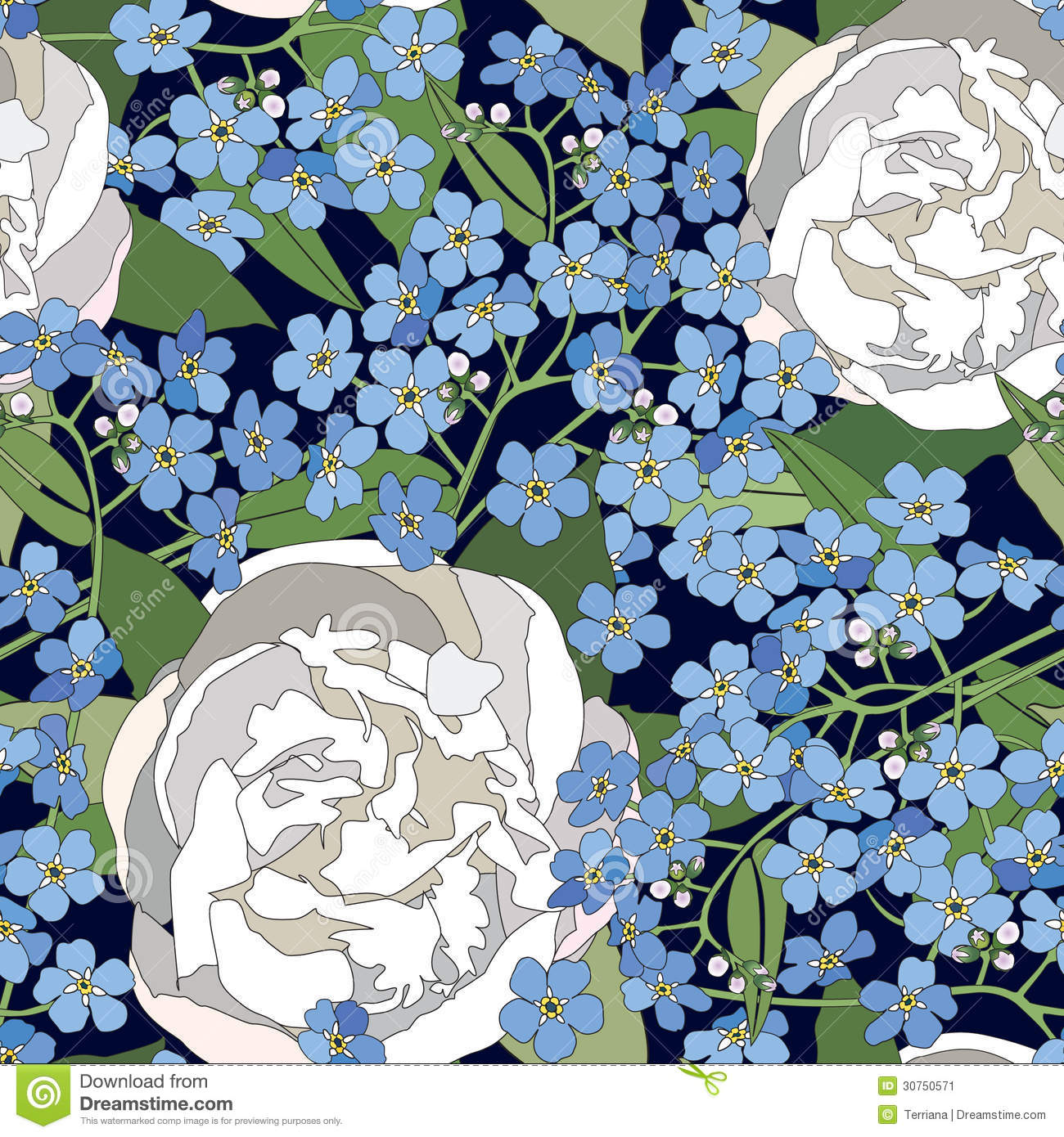 Floral Seamless Background Gentle Flower Pattern Stock
