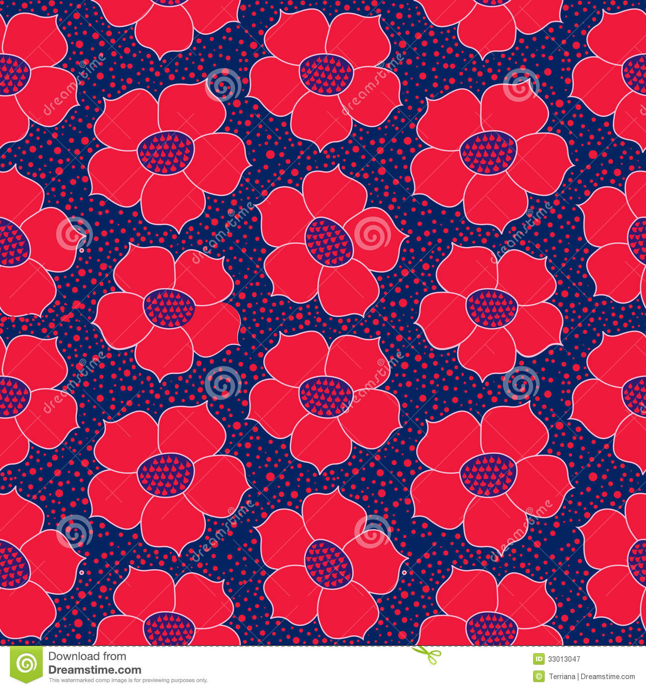 Batik pattern background in vector royalty free stock photos image - Floral Seamless Background Red Flower Pattern Royalty