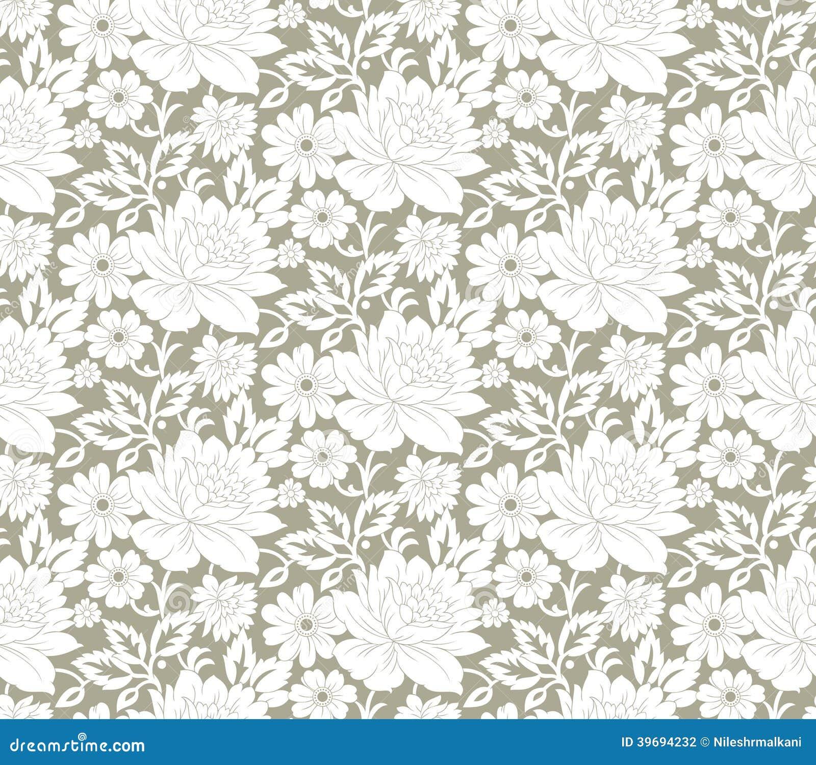 Fancy Wallpaper Floral Seamless Fancy Wallpaper Stock Vector Image 39694232