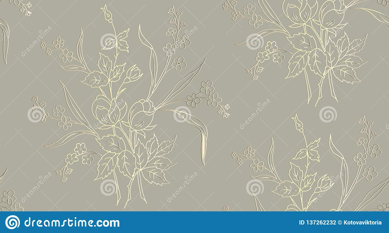 Floral seamless pattern can be used for wallpaper, textile printing, card. vector illustration of roses on light background.