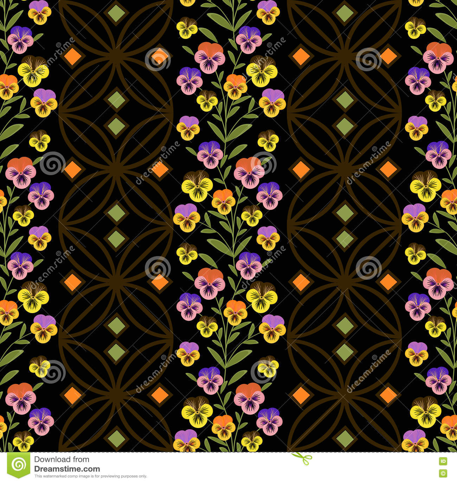 Floral seamless pattern cute cartoon flowers black background floral seamless pattern cute cartoon flowers black background izmirmasajfo