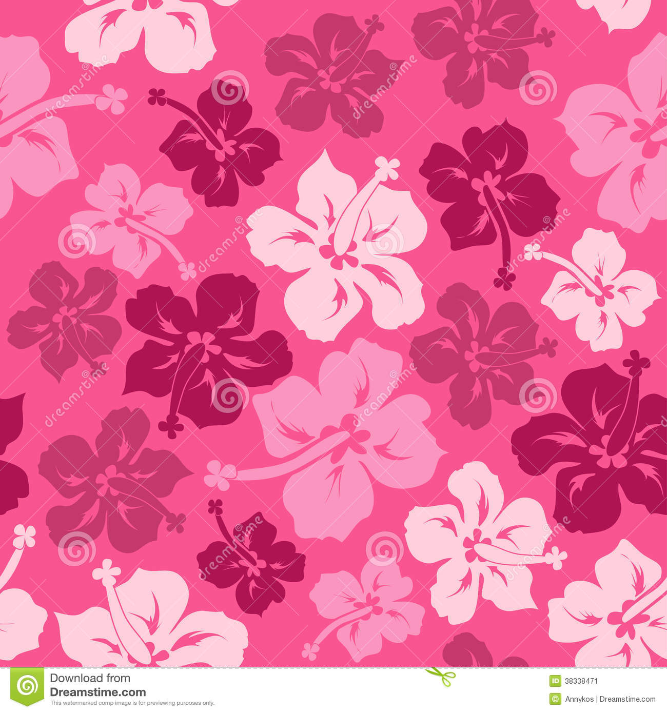 Tropical Seamless Background With Hibiscus Flowers And Leopard