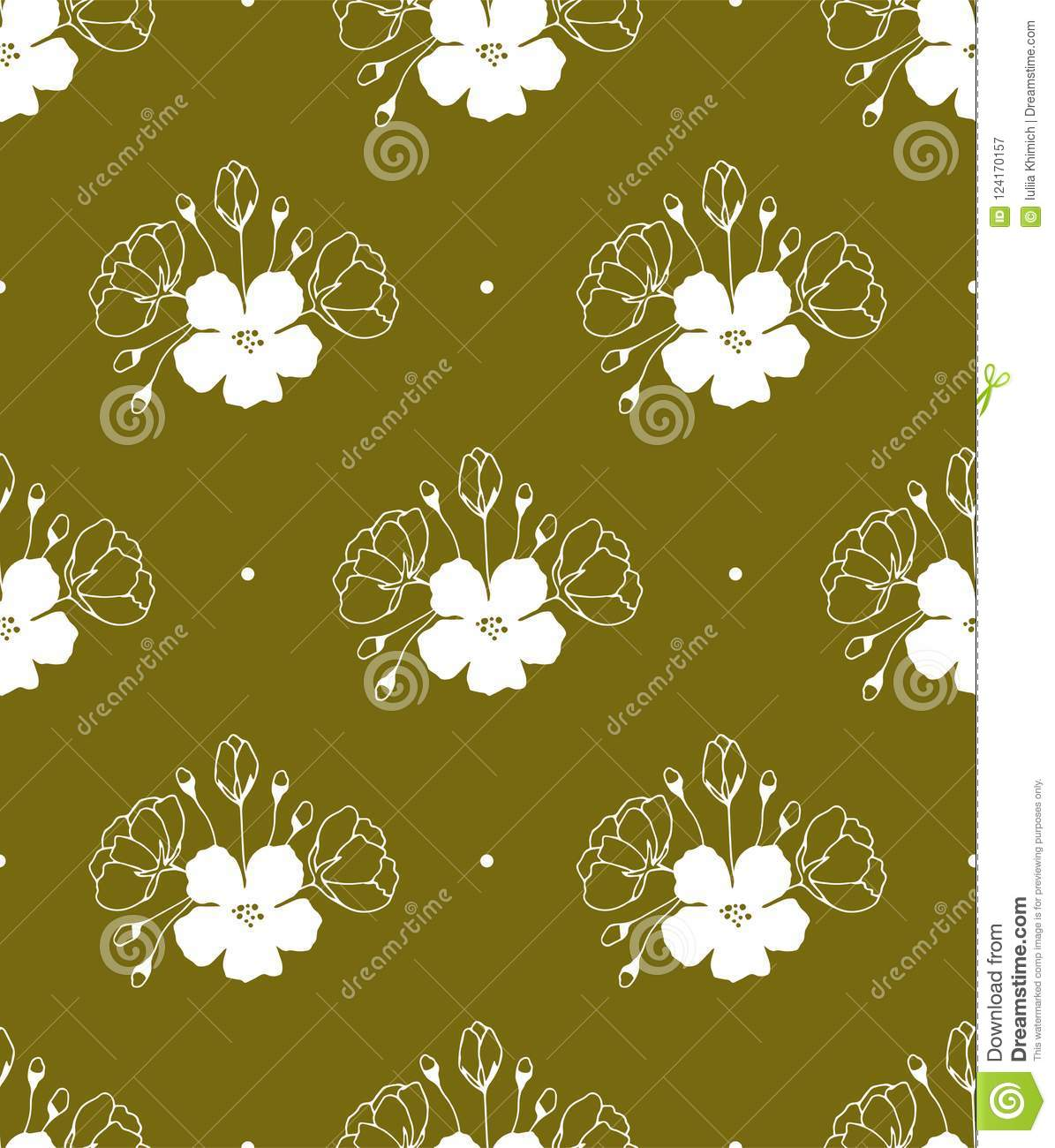 3ce41d086c Floral seamless pattern. Part of big flower collection of illustrations.  Can be used for wallpaper