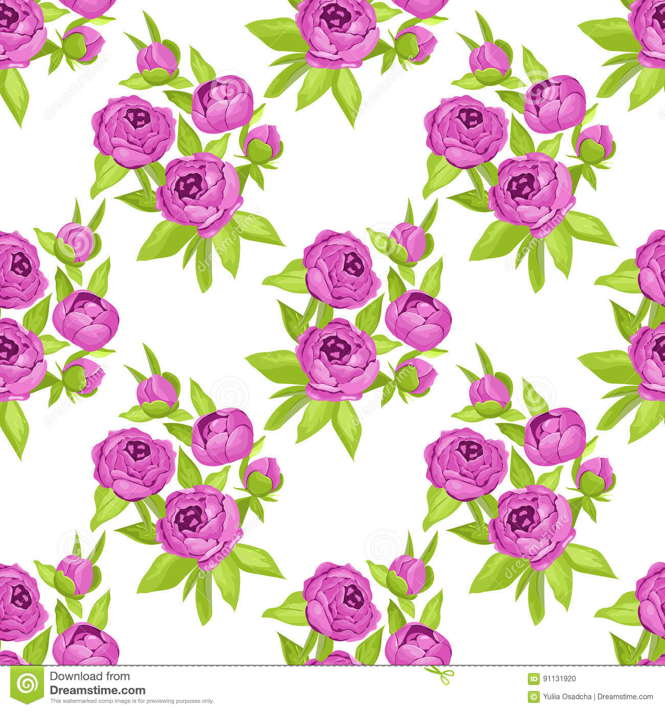floral seamless pattern in purple flowers for textile print book