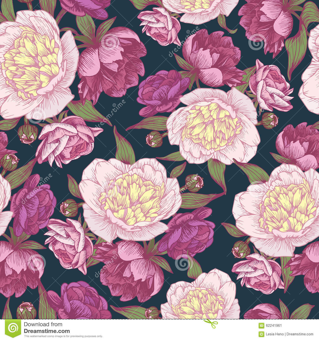 Purple vintage floral pattern - photo#14