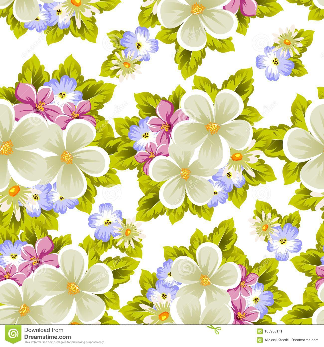 Floral seamless pattern of several flowers for design of cards floral seamless pattern of several flowers for design of cards invitations greeting for birthday wedding party holiday celebration valentines day izmirmasajfo