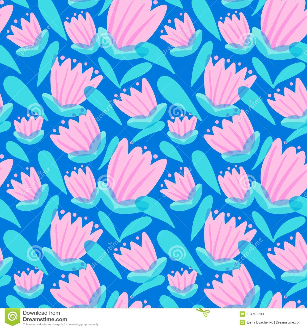 Floral seamless pattern with tranparency elements. Background wi