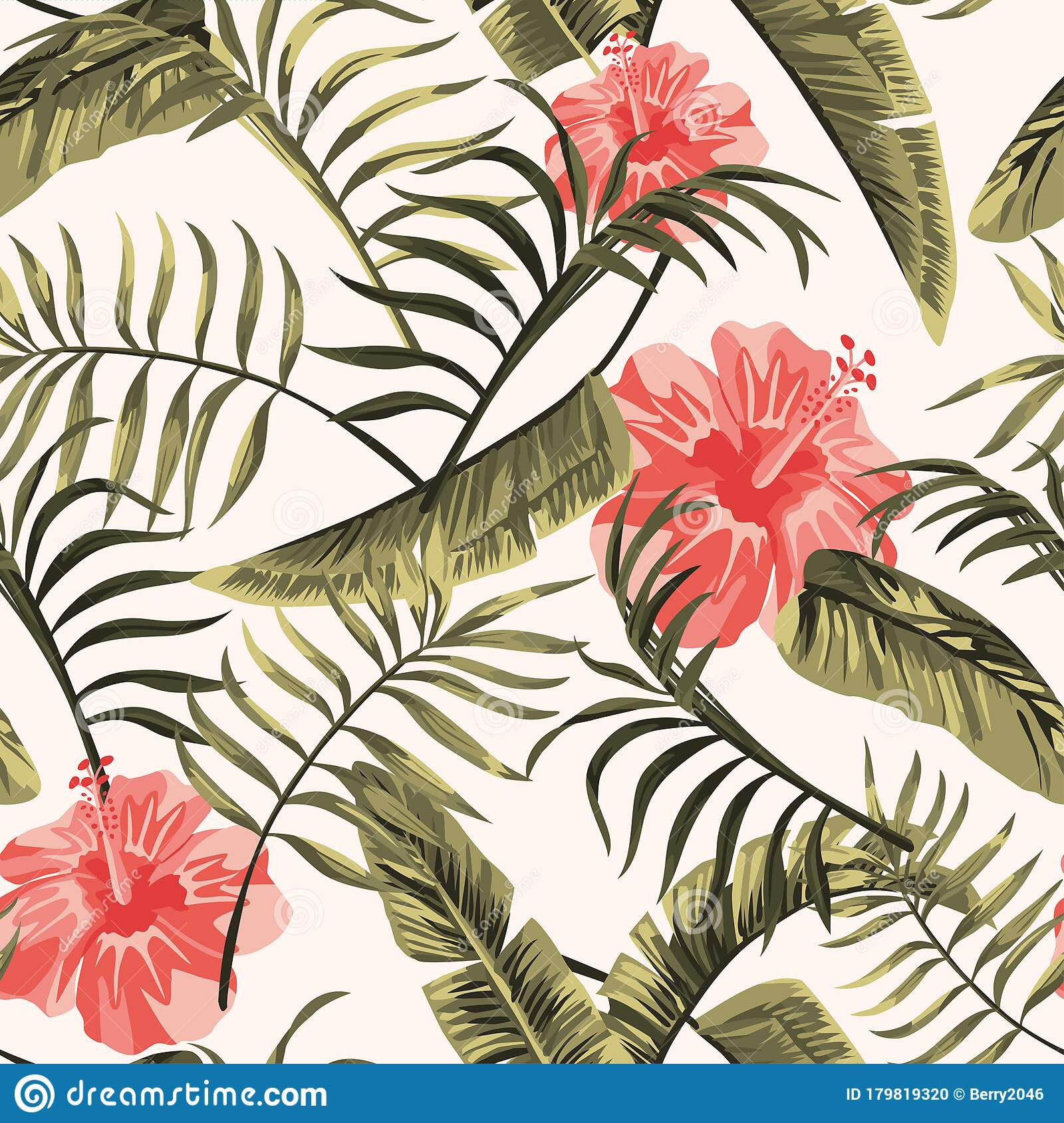 Floral Seamless Pattern Tropical Flowers Hawaiian White Background Stock Vector Illustration Of Beautiful Garden 179819320 Hawaiian background stock vectors, clipart and illustrations. dreamstime com