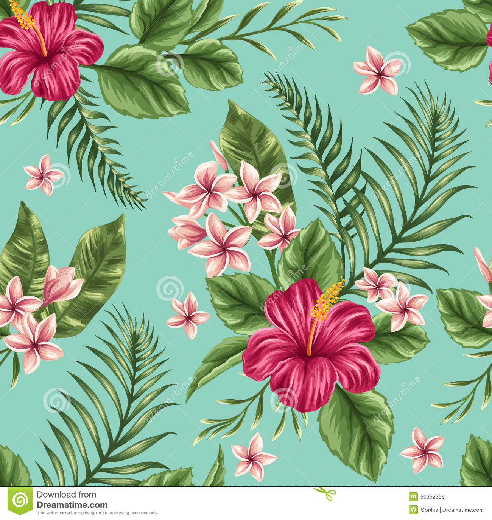 Scandinavian Design Floral Seamless Pattern Stock Vector Image 50352356