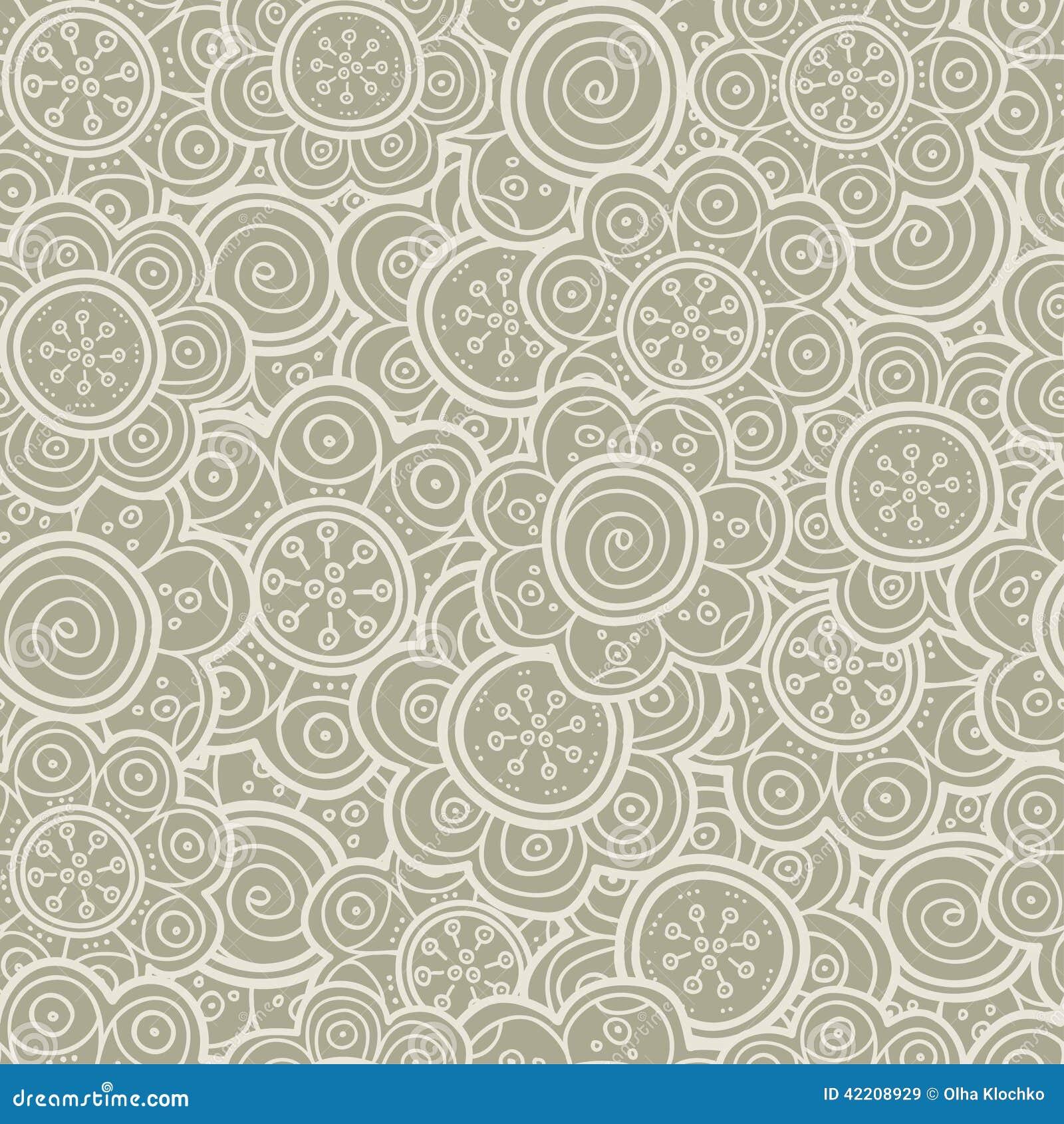 Floral Seamless Pattern Vector Illustration Background