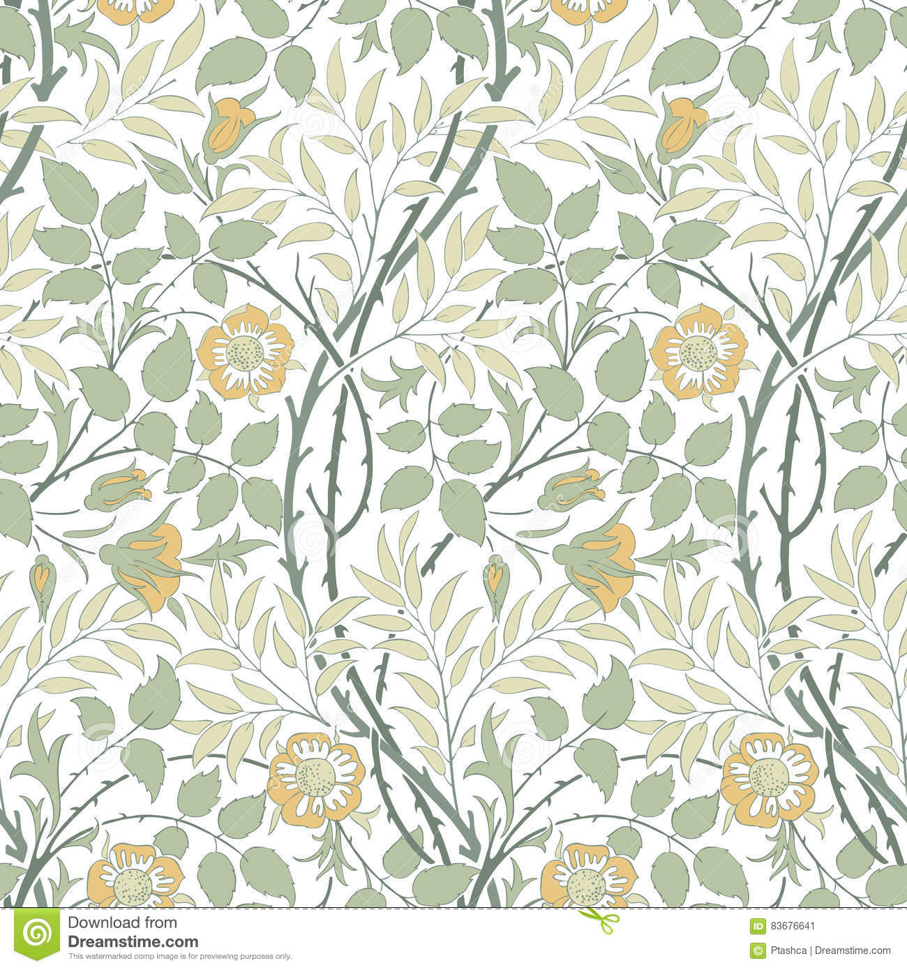 Floral Seamless Pattern For Your Design Stock Vector