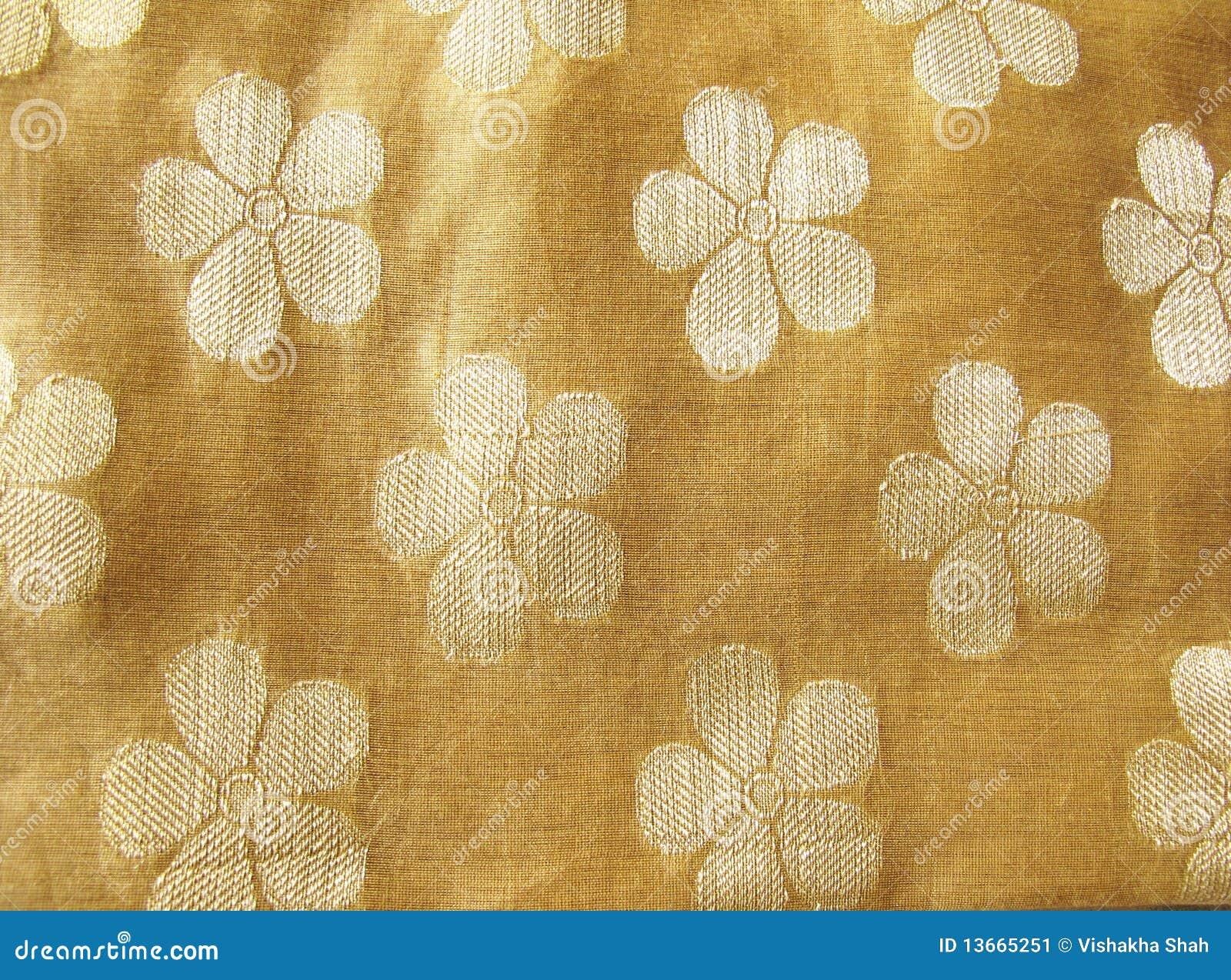 Floral silk fabric