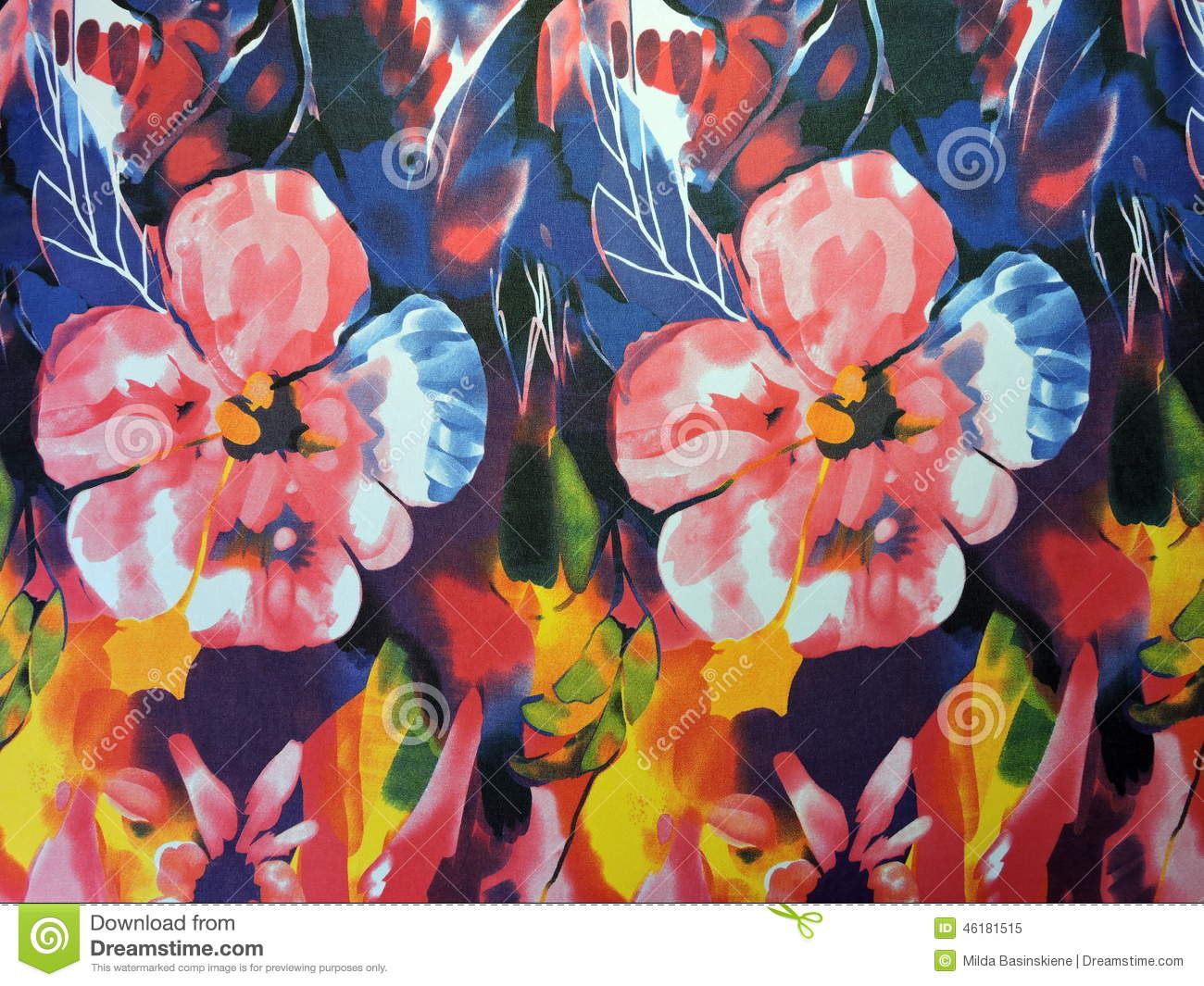 Floral Silk Fabric Abstract Stock Image Image Of Pattern Effects