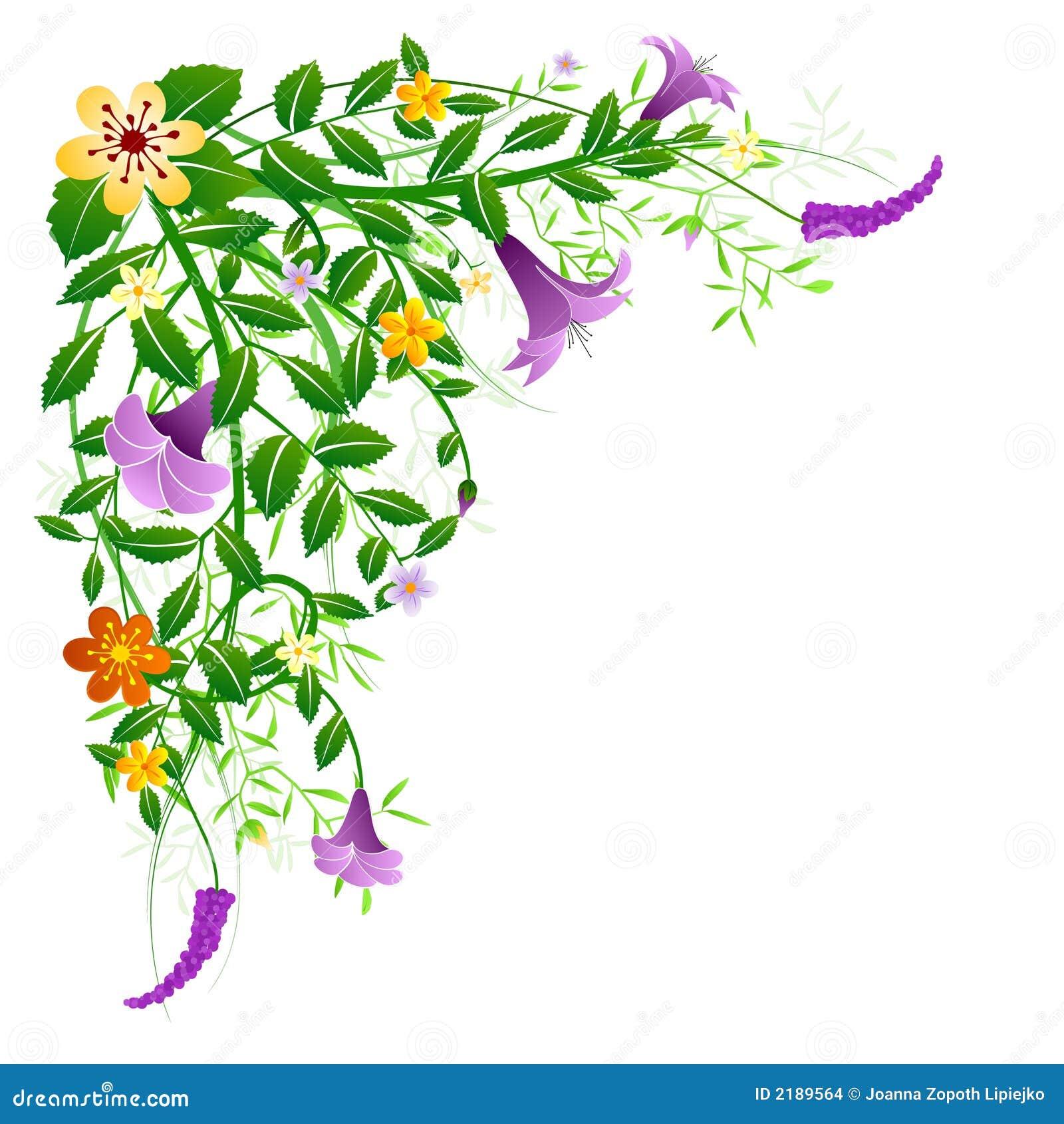 Floral Spring Corner Stock Vector Illustration Of