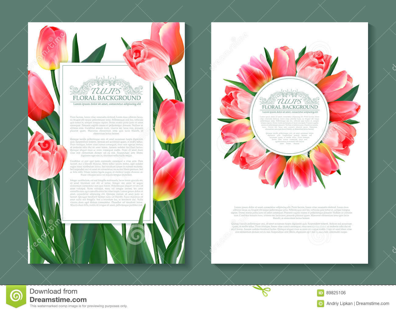 Floral spring templates with cute pink flowers tulips for romantic download floral spring templates with cute pink flowers tulips for romantic and business design mightylinksfo