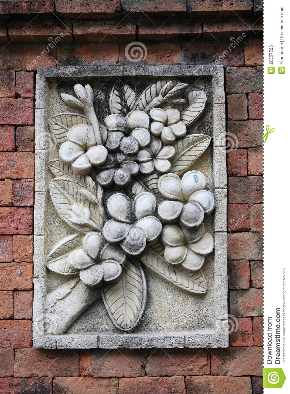 Floral Stone Carving Decoration Stock Photo Image 26557726