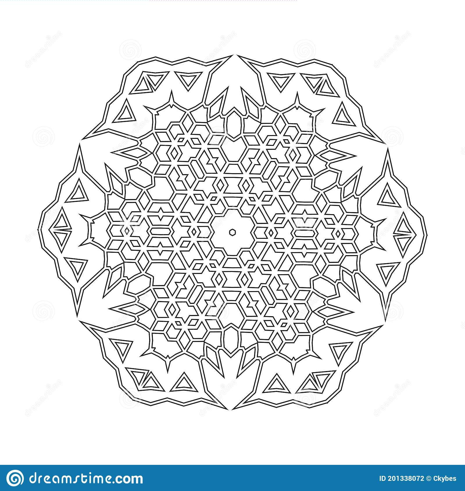 Floral Straight Lined Mandala Trendy Tattoo Template Coloring Pages Stock Vector Illustration Of Flower Star 201338072