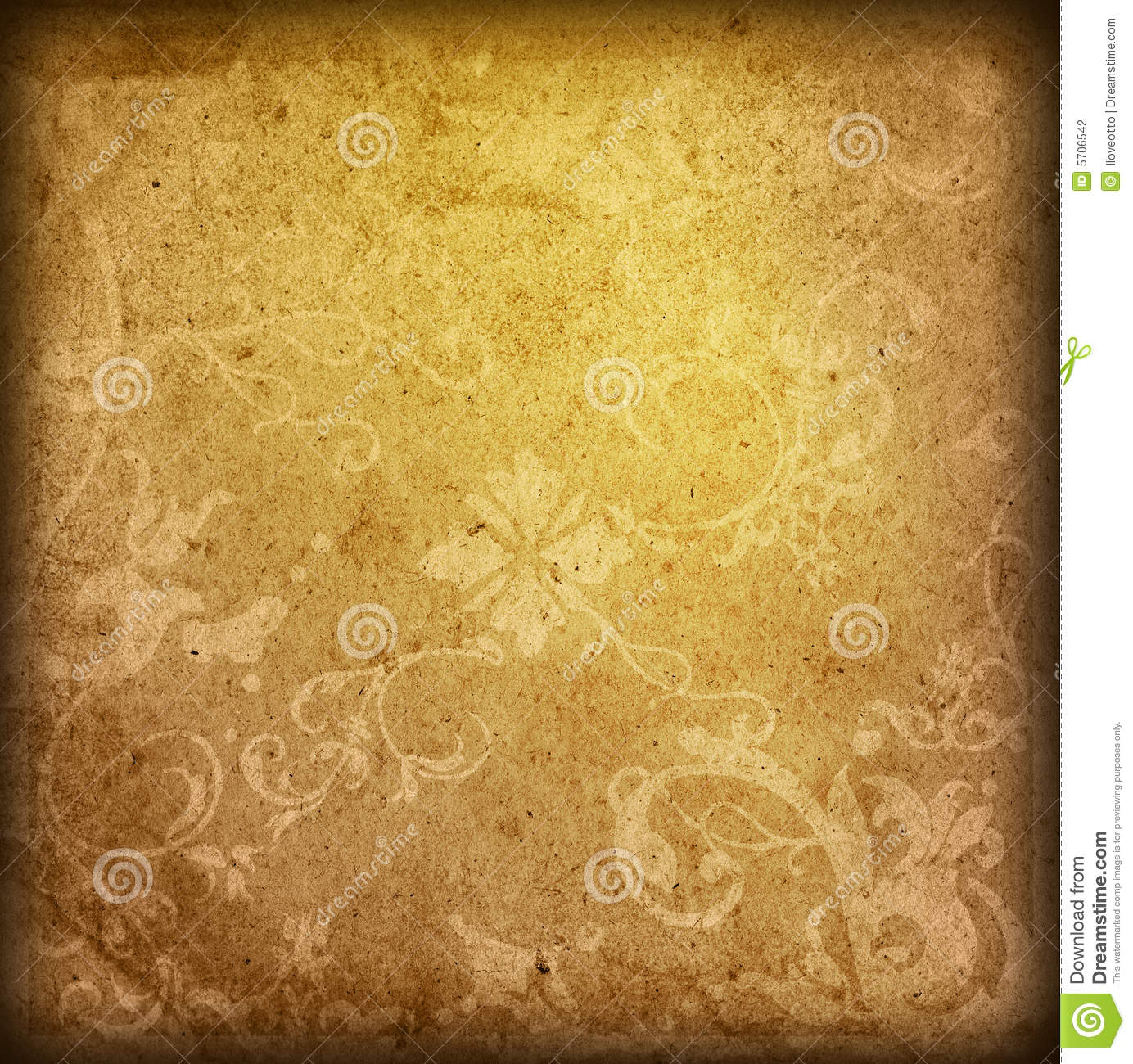 Floral Style Old Paper Textures Background Royalty Free Stock ...